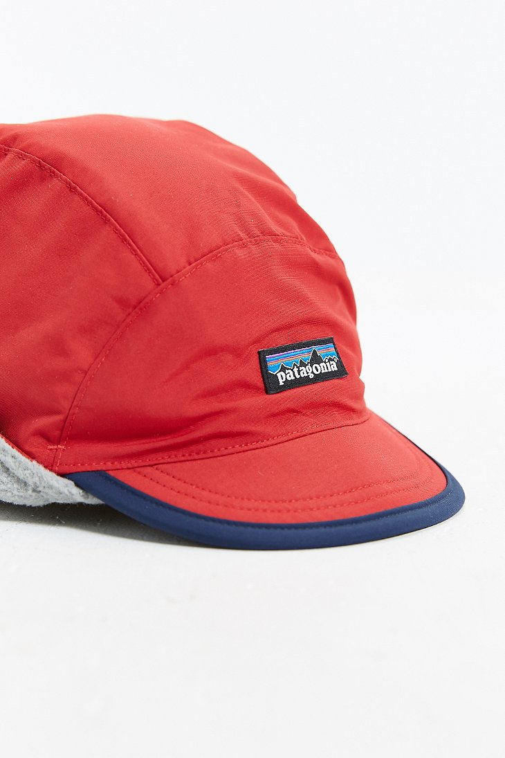 Lyst - Patagonia Shelled Synchilla Duckbill Hat in Red for Men 5ae4e2c14410