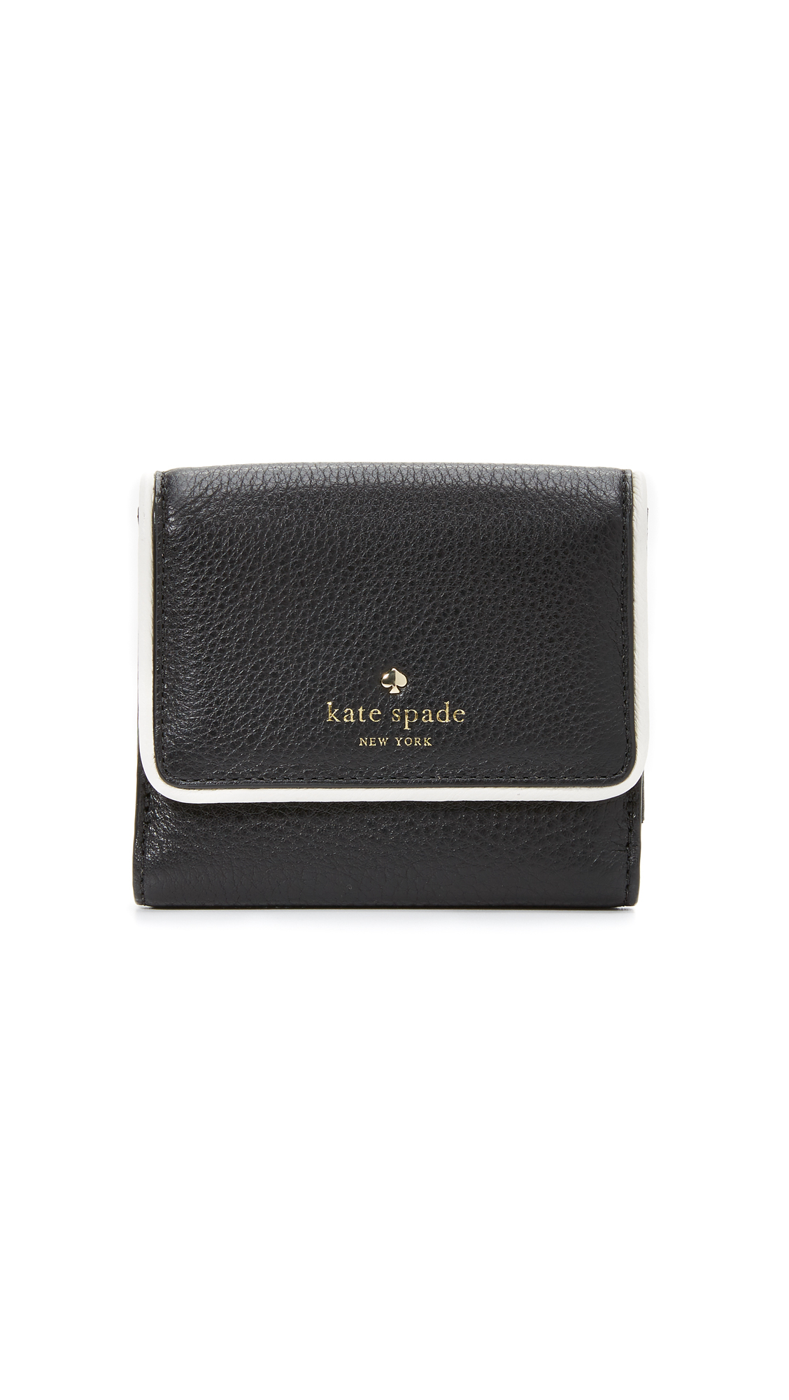 kate spade new york cobble hill tavy wallet in black lyst