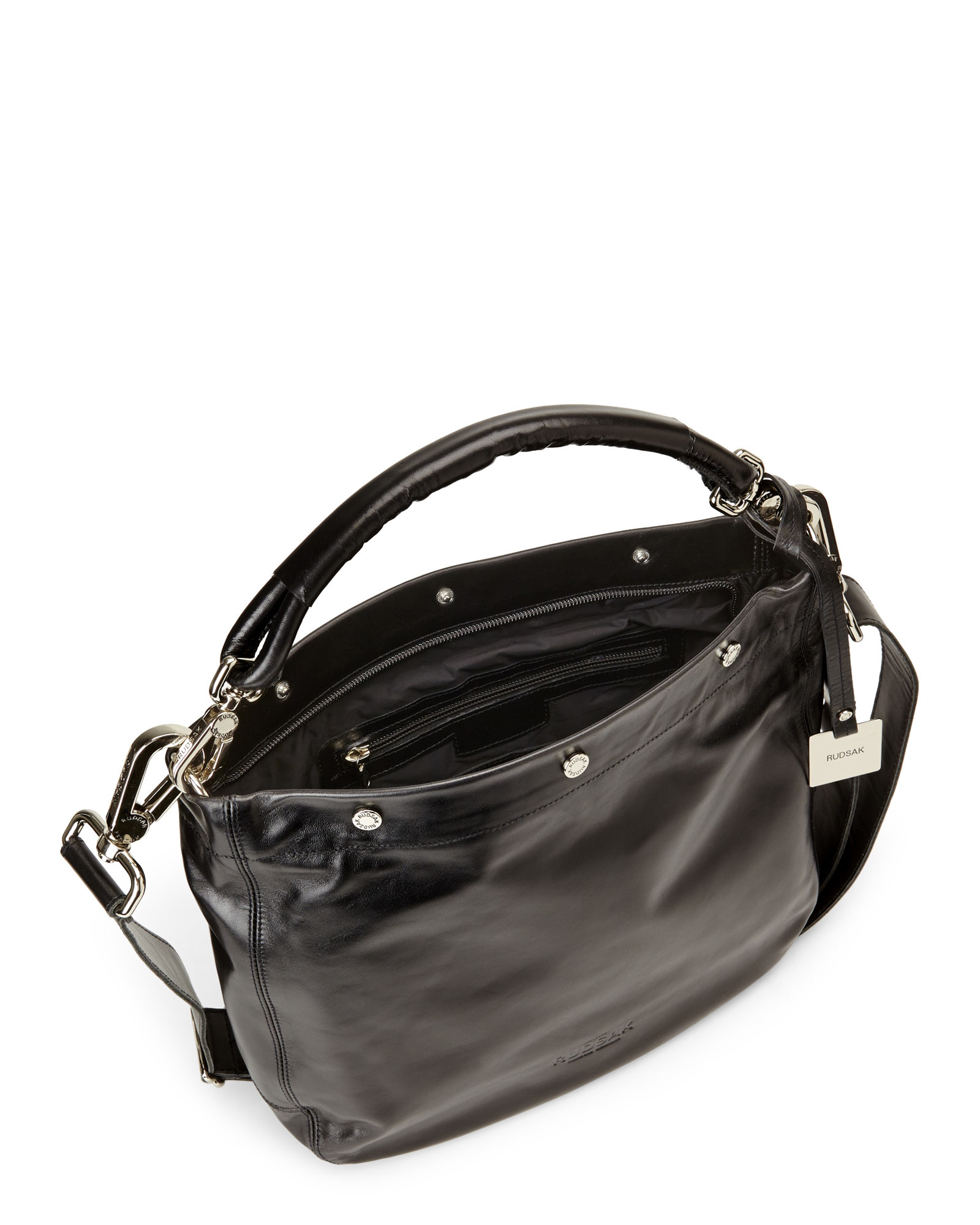 Leather Black Damar Convertible Hobo
