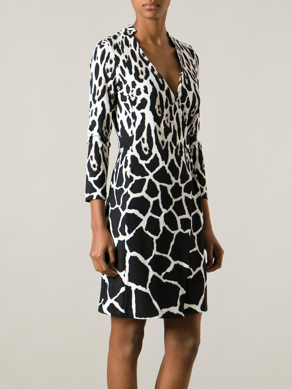 Roberto Cavalli Leopard Print Wrap Dress Lyst