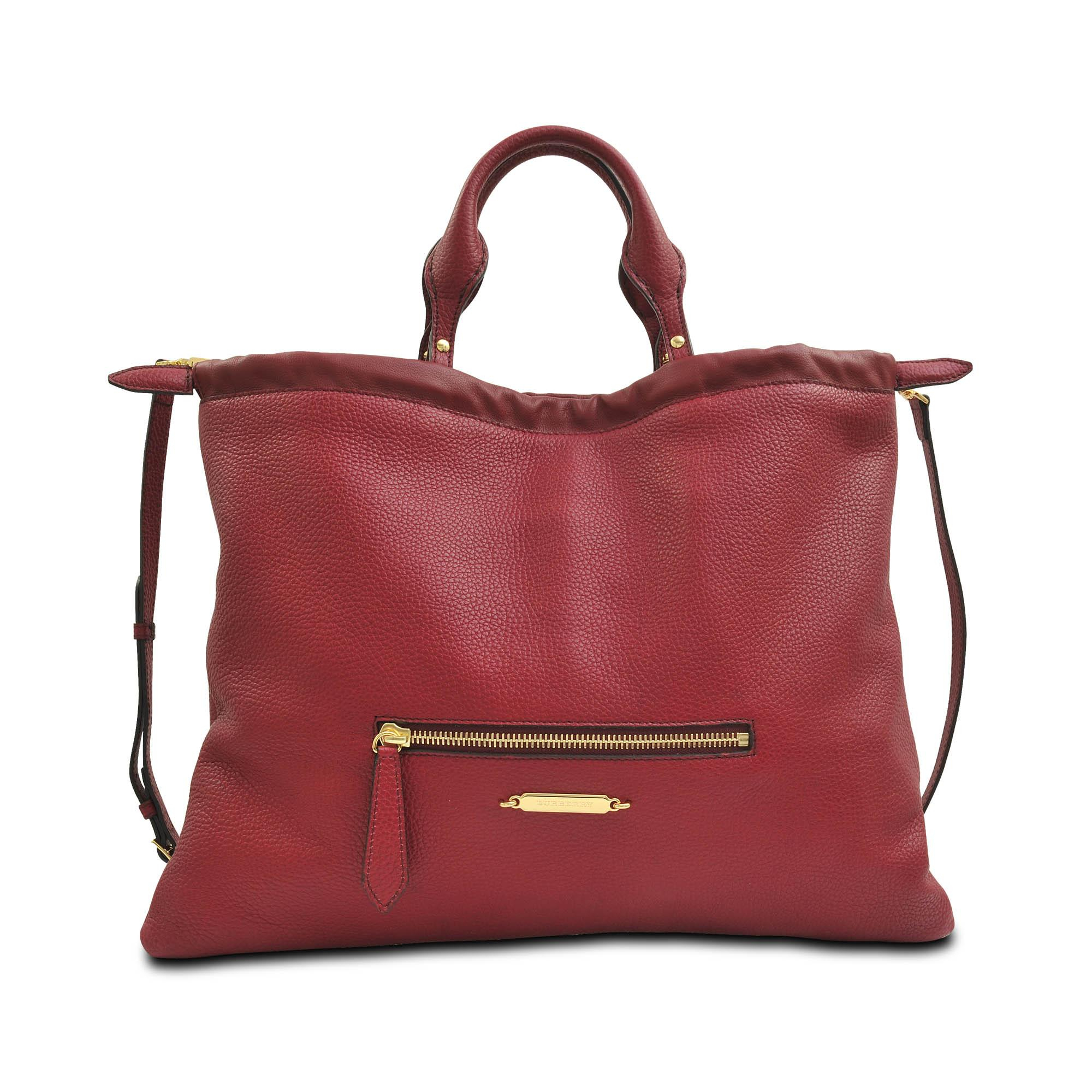 burberry big crush bag in red lyst