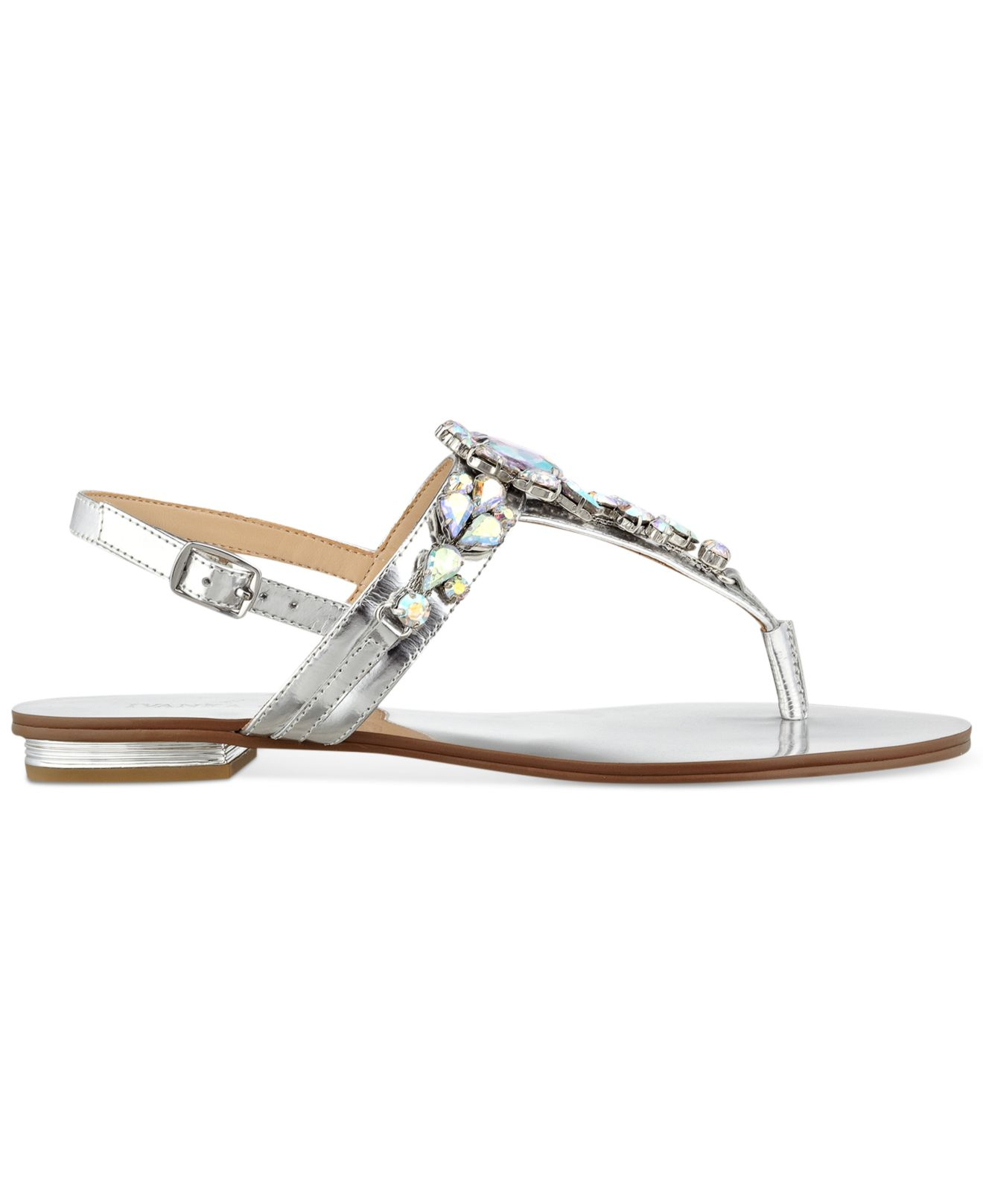 Ivanka trump Felix Jeweled Thong Sandals in Metallic   Lyst