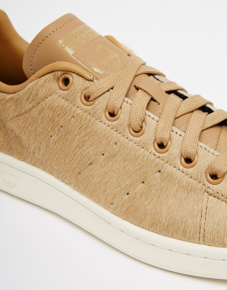 grossiste f0472 86be7 Adidas Originals Brown Stan Smith Pony Effect Trainers B24700 for men