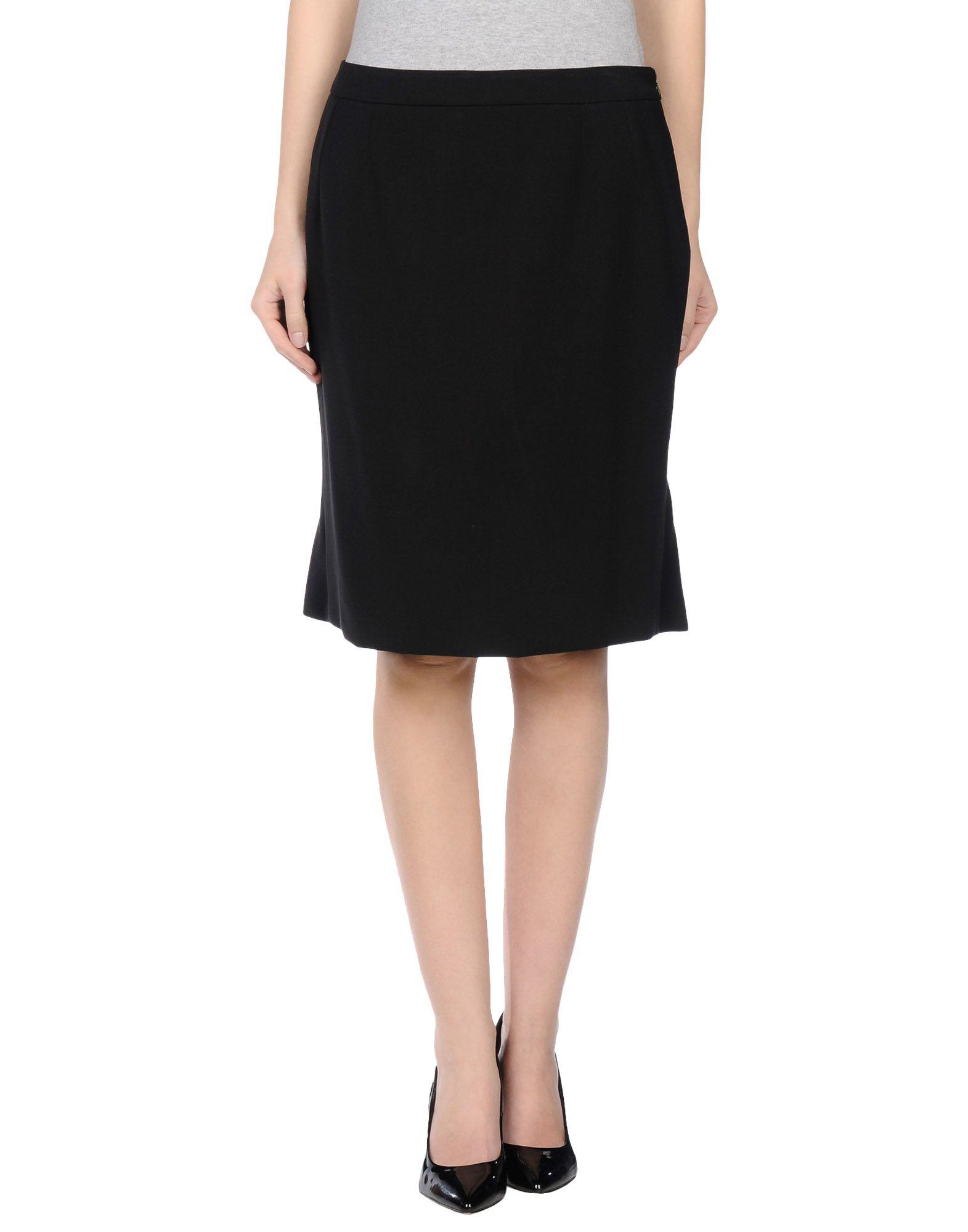 who s who knee length skirt in black lyst