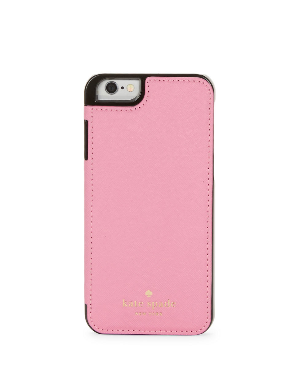 Kate Spade Leather Folio Iphone 6 Case In Pink Lyst