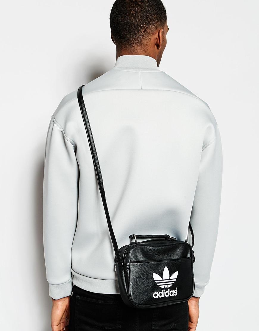 aadf9fb0ea04 Lyst - adidas Originals Mini Airliner Flight Bag in Black for Men