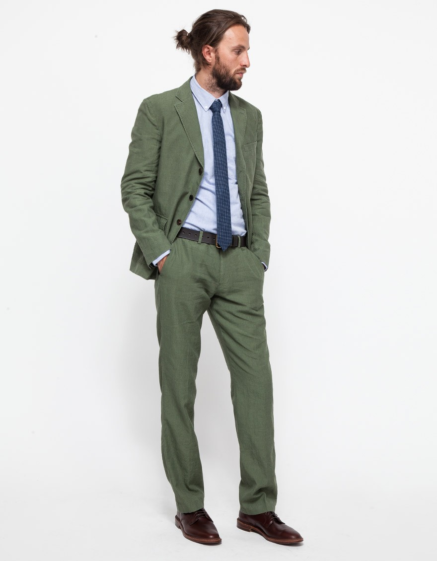 Apolis Linen Civilian Blazer In Olive in Green for Men | Lyst