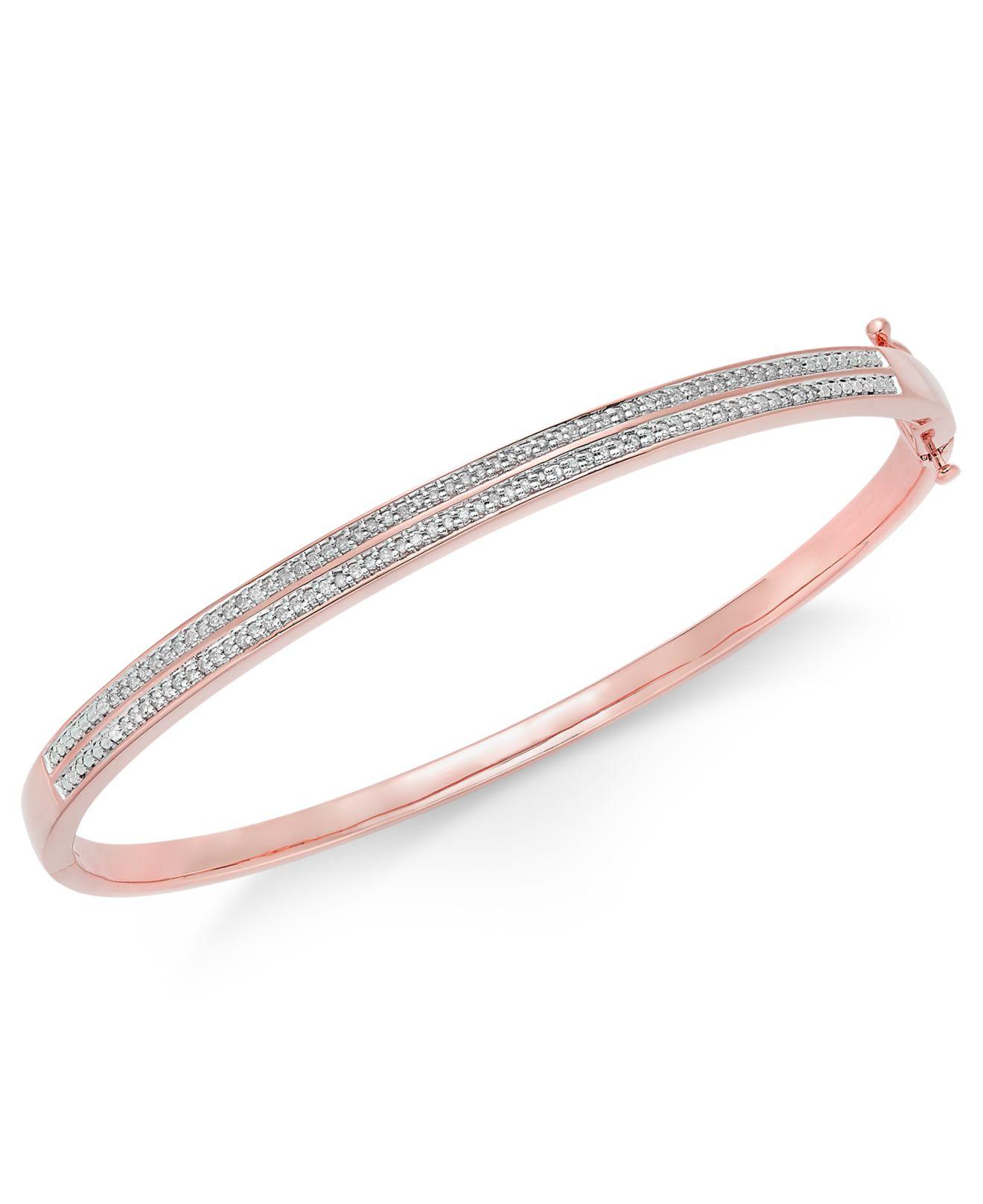 macy s pav 233 bangle bracelet 1 4 ct tw in