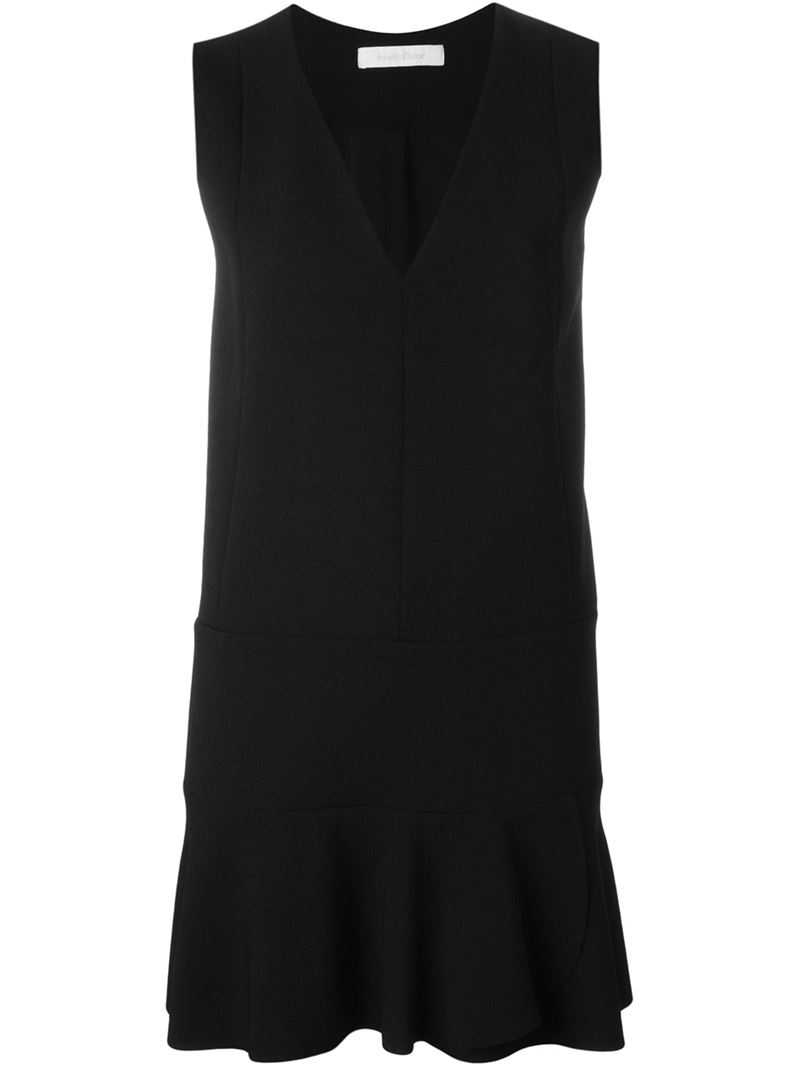 Black flared dress Chloé Pay With Paypal Cheap Online Cheap Sale Deals Best Place For Sale WS6xuA