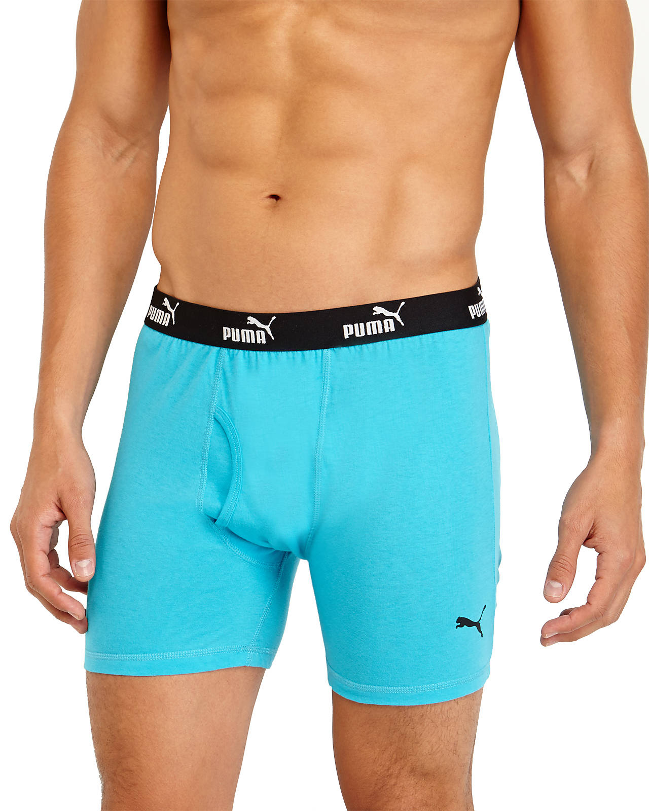 Lyst Puma 3 Pack Multicolor Boxer Briefs In Blue For Men Gallery