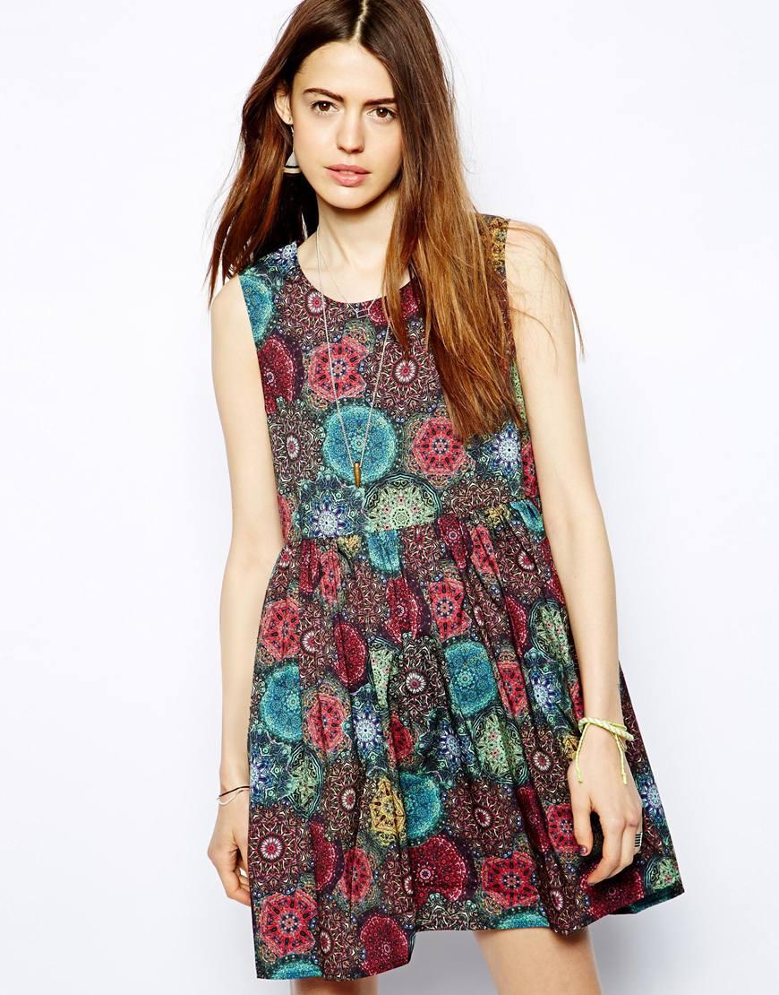 Lyst - MINKPINK Smock Dress in Kaleidoscope Print aff03b37d