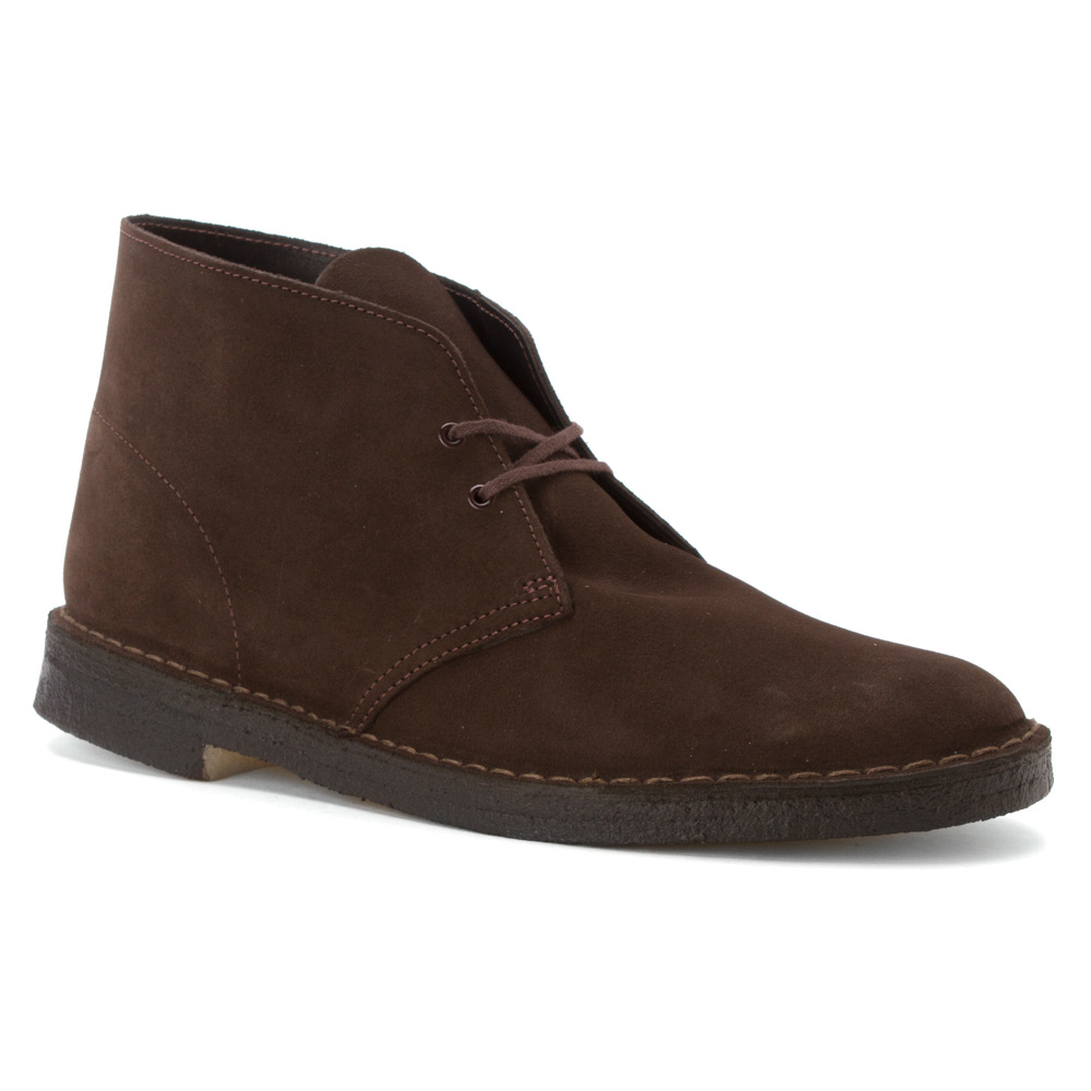 clarks desert boot in brown for lyst
