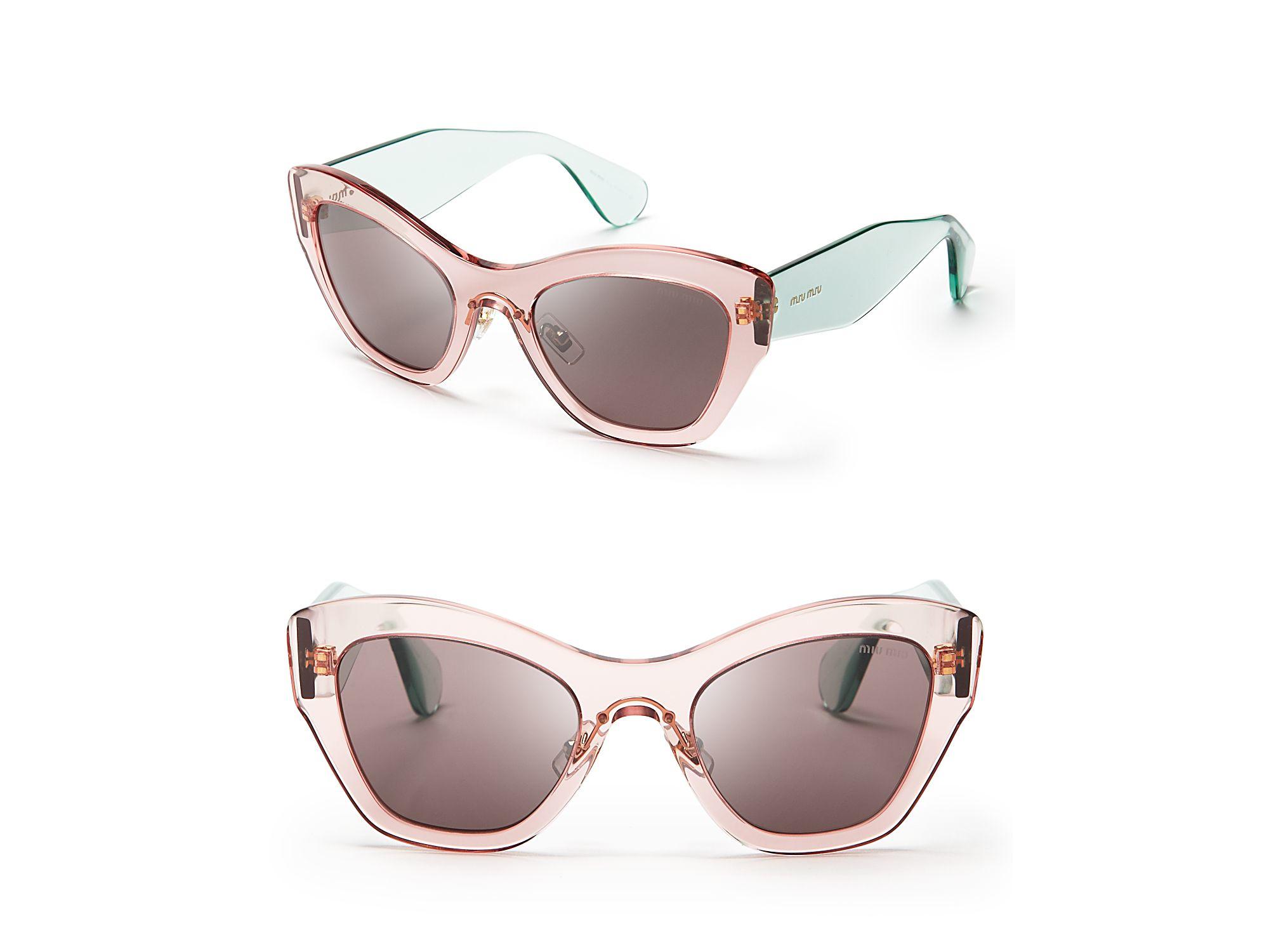 Miu Miu Cat Eye Sunglasses Pink
