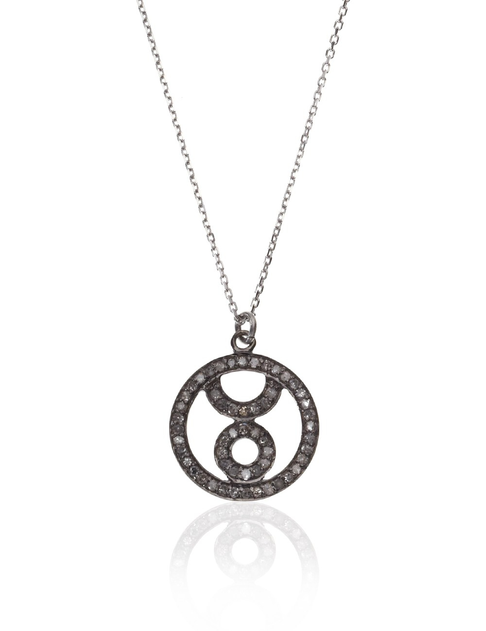 silver taurus necklace in silver lyst