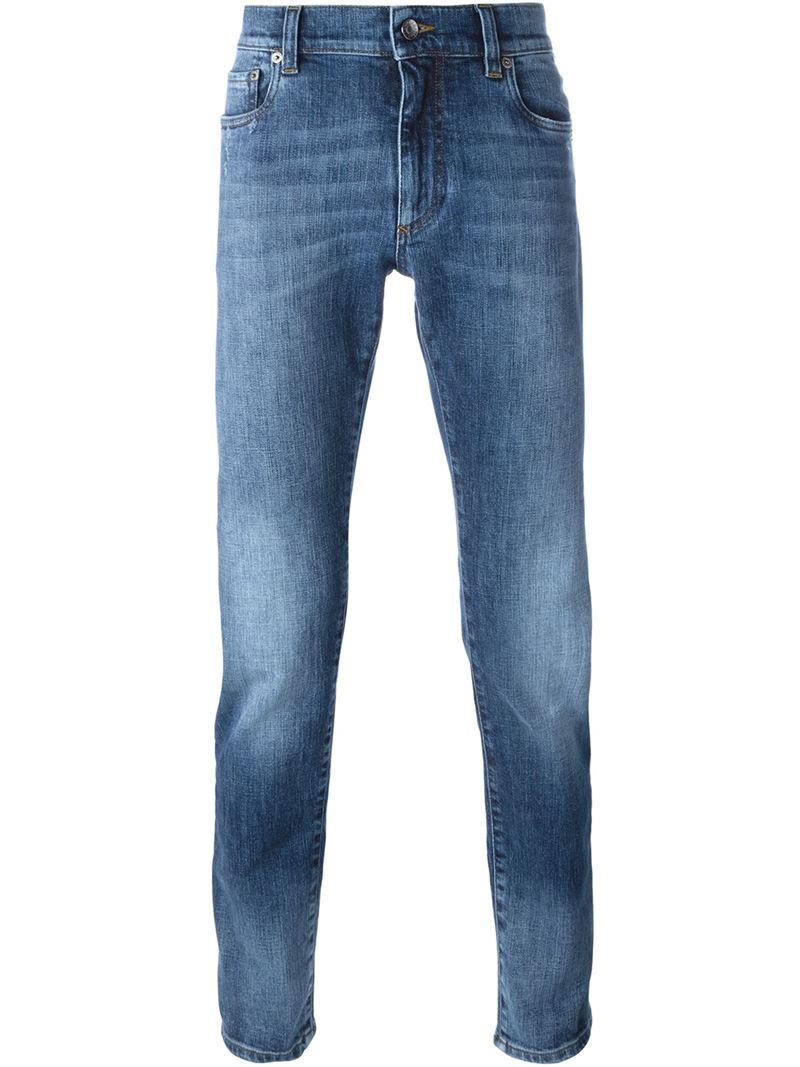 dolce gabbana straight leg jeans in blue for men lyst. Black Bedroom Furniture Sets. Home Design Ideas