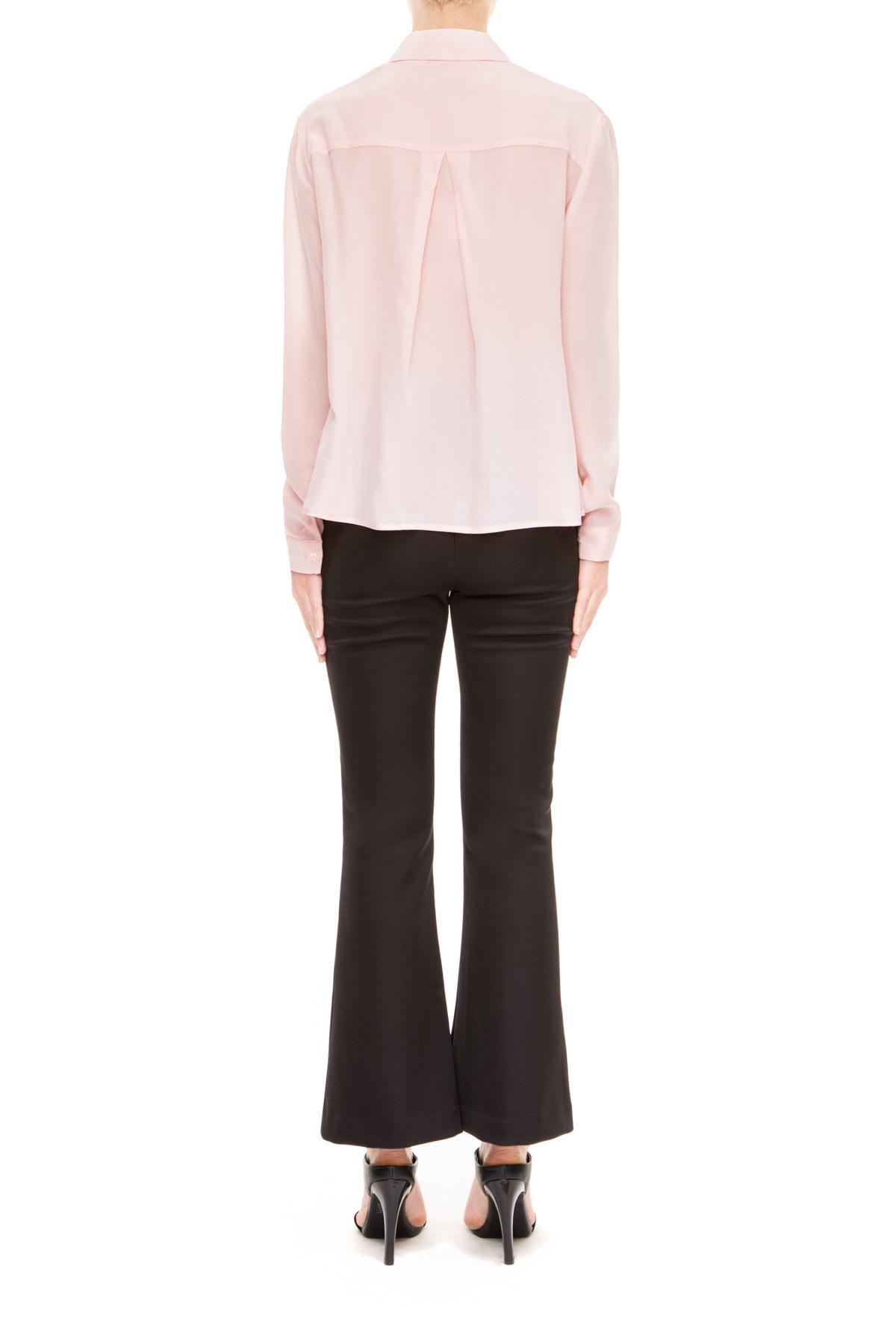 Lyst keepsake stolen heart silk long sleeve shirt in pink for Silk long sleeve shirt