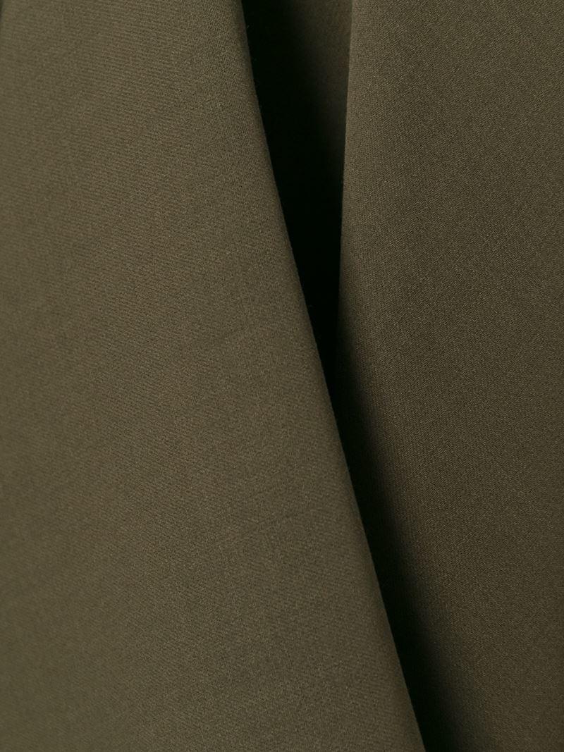 Alexander McQueen Asymmetric Draped Skirt in Green