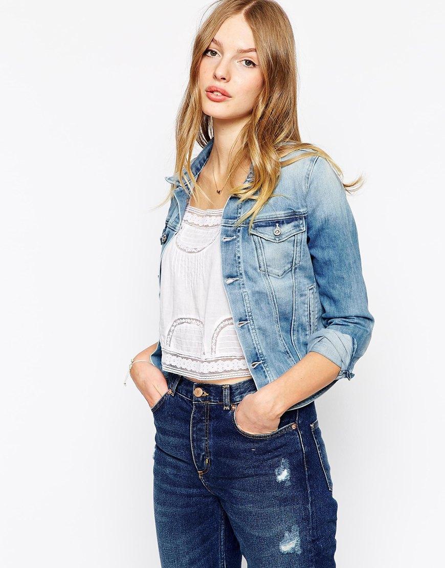 Pepe Jeans Denim Jacket In Blue Lyst