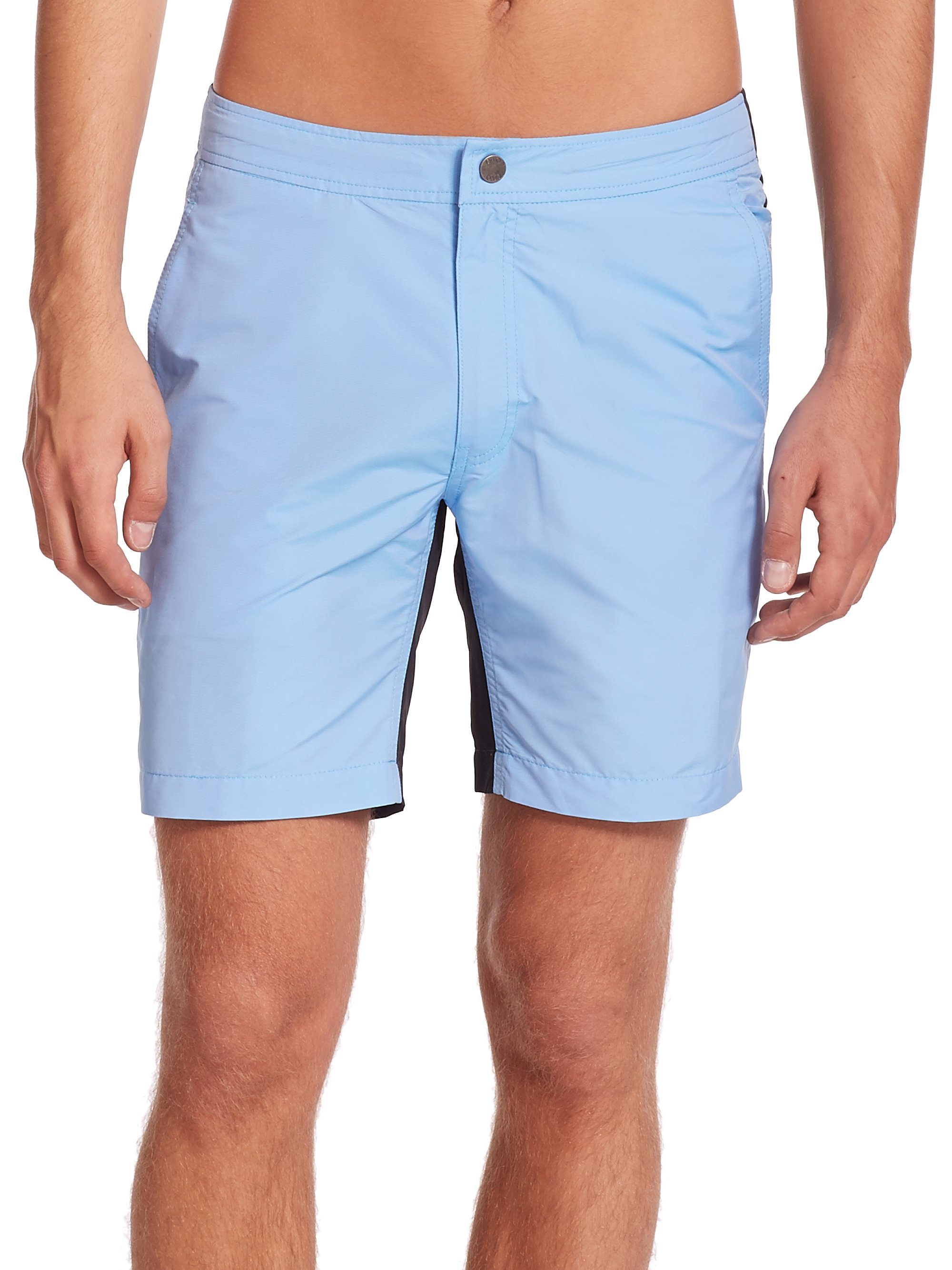 b5e4a3c0b8 Onia Calder Two-tone Swim Trunks in Blue for Men - Lyst