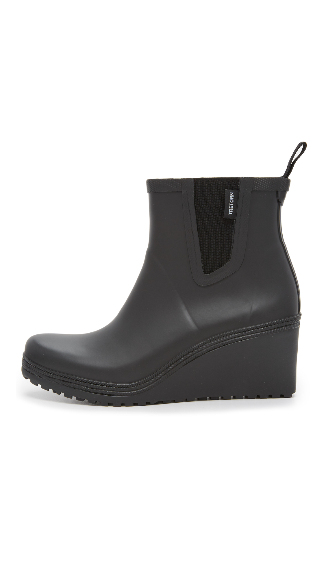 Tretorn Rubber Emma Chelsea Wedge Rain Booties In Black Lyst