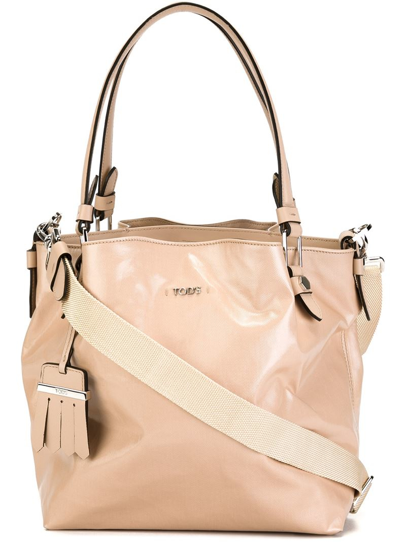 Lyst Tod S Micro Flower Shoulder Bag In Pink