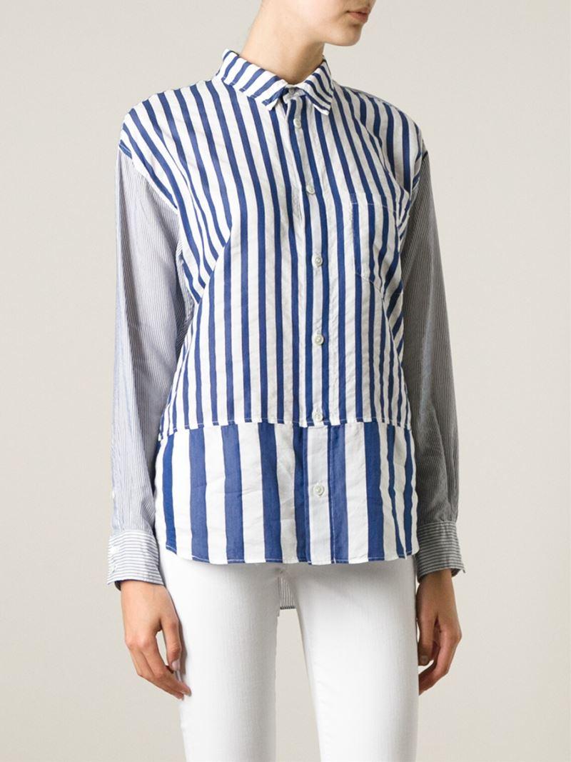 4f135c6383 Zucca Mixed Stripe Shirt in Blue - Lyst