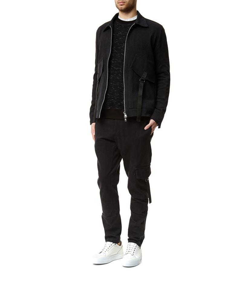 Adyn Cotton Coach Full Zip Jacket in Black for Men