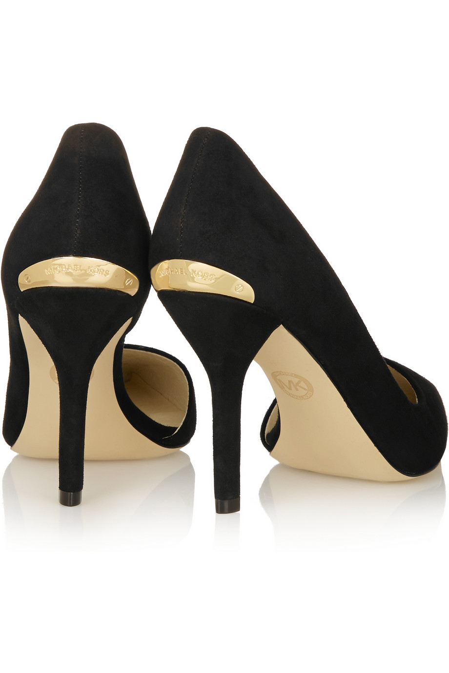 acff9e351350 MICHAEL Michael Kors Julieta Suede Pumps in Black - Lyst