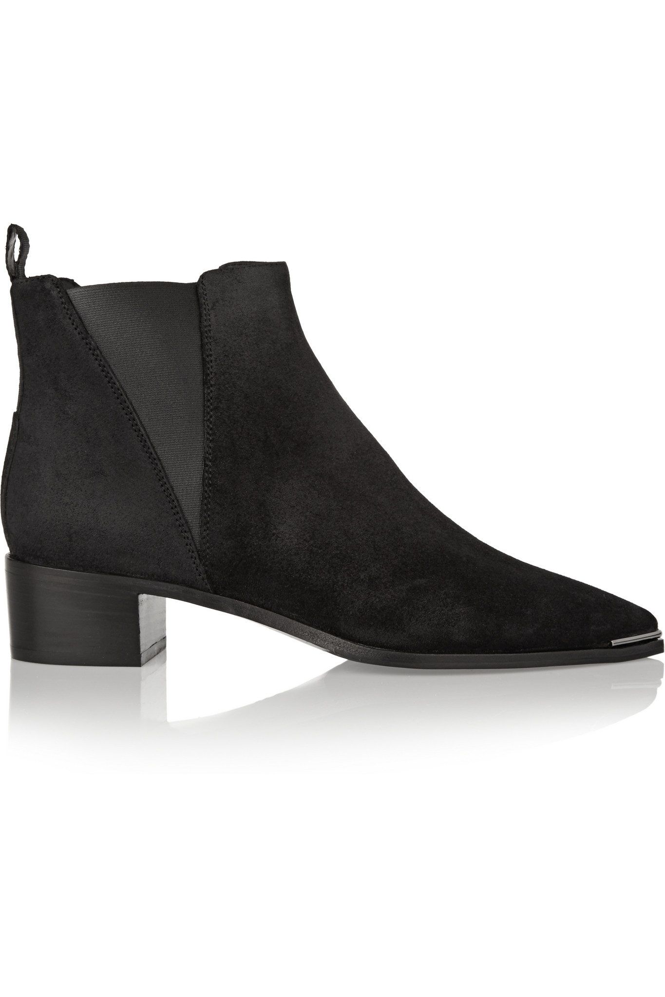 acne jensen suede ankle boots in black lyst. Black Bedroom Furniture Sets. Home Design Ideas