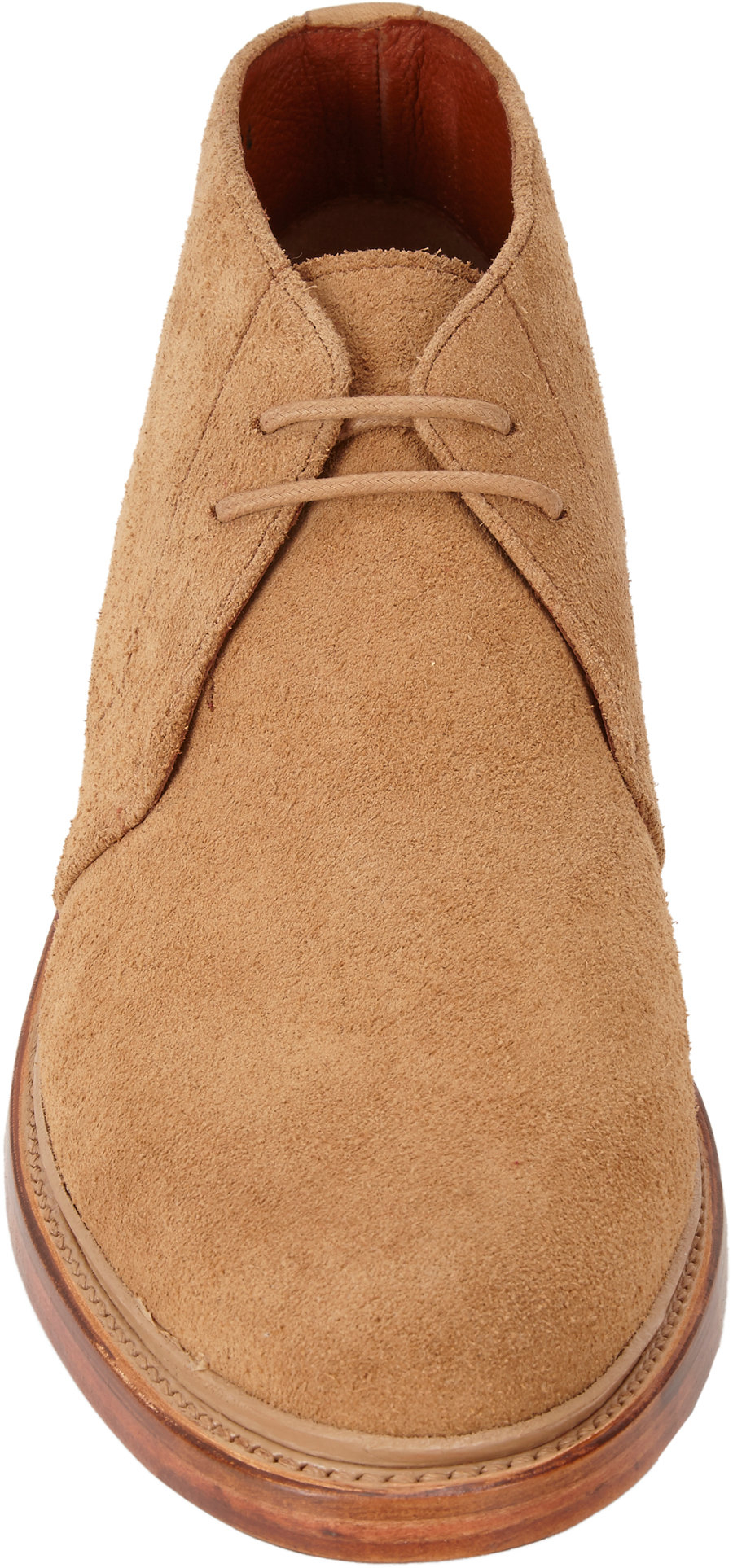 duckie brown suede chukka boots in beige for