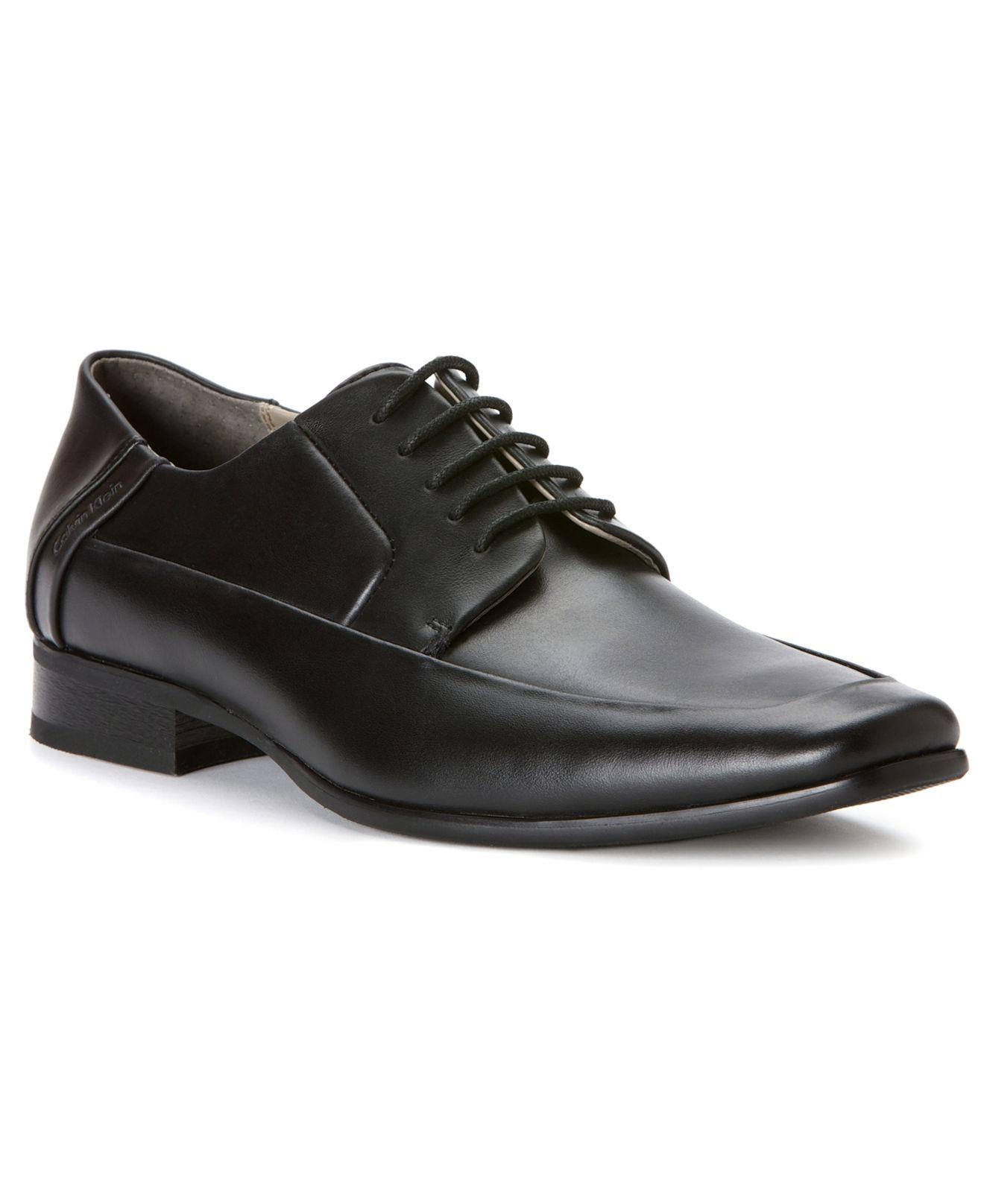 Calvin Klein Brent Moc Toe Lace Up Shoes In Black For Men