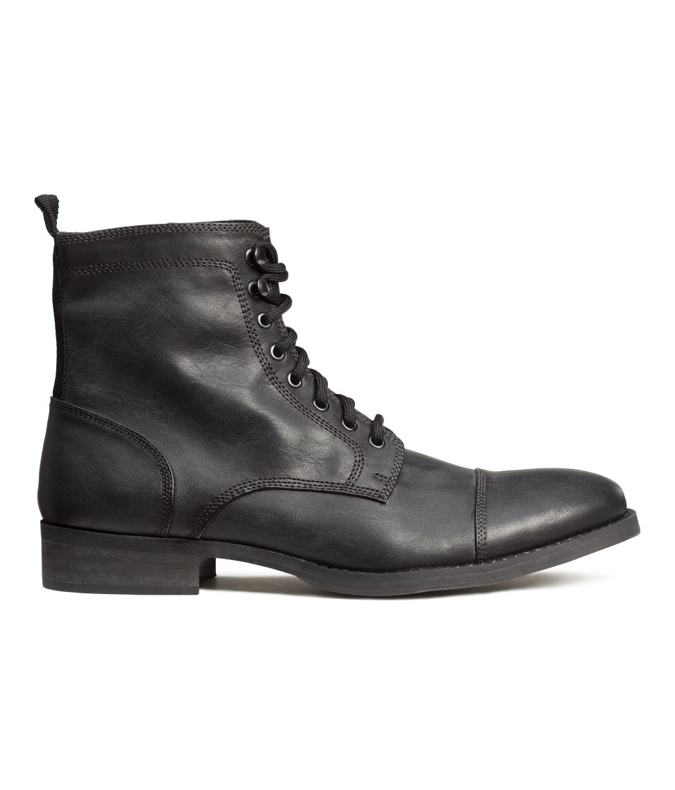 h m boots in gray for lyst