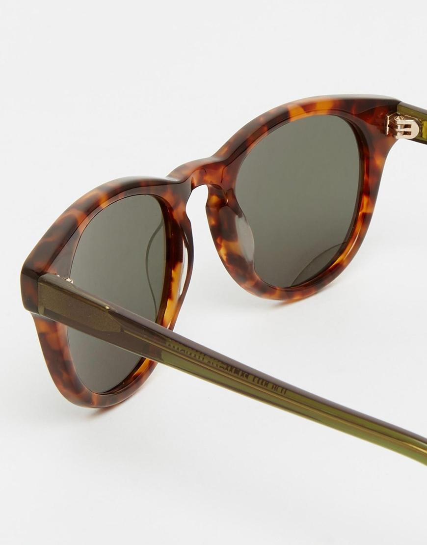 10dcecbaf340f Han Kjobenhavn Timeless Round Sunglasses In Amber Tort in Brown for ...