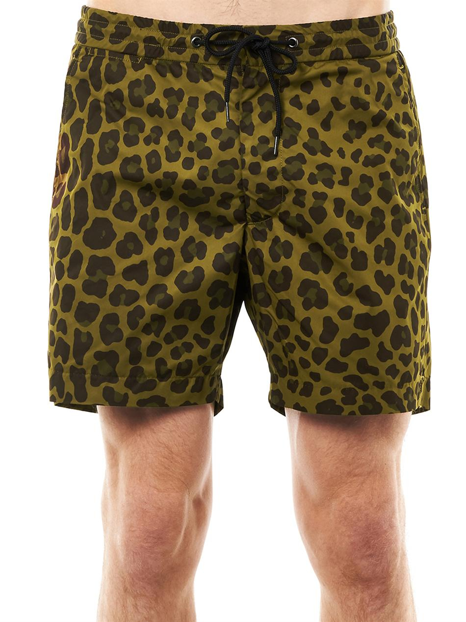 df1afea0ad Marc By Marc Jacobs London Leopard-Print Swim Shorts in Green for ...