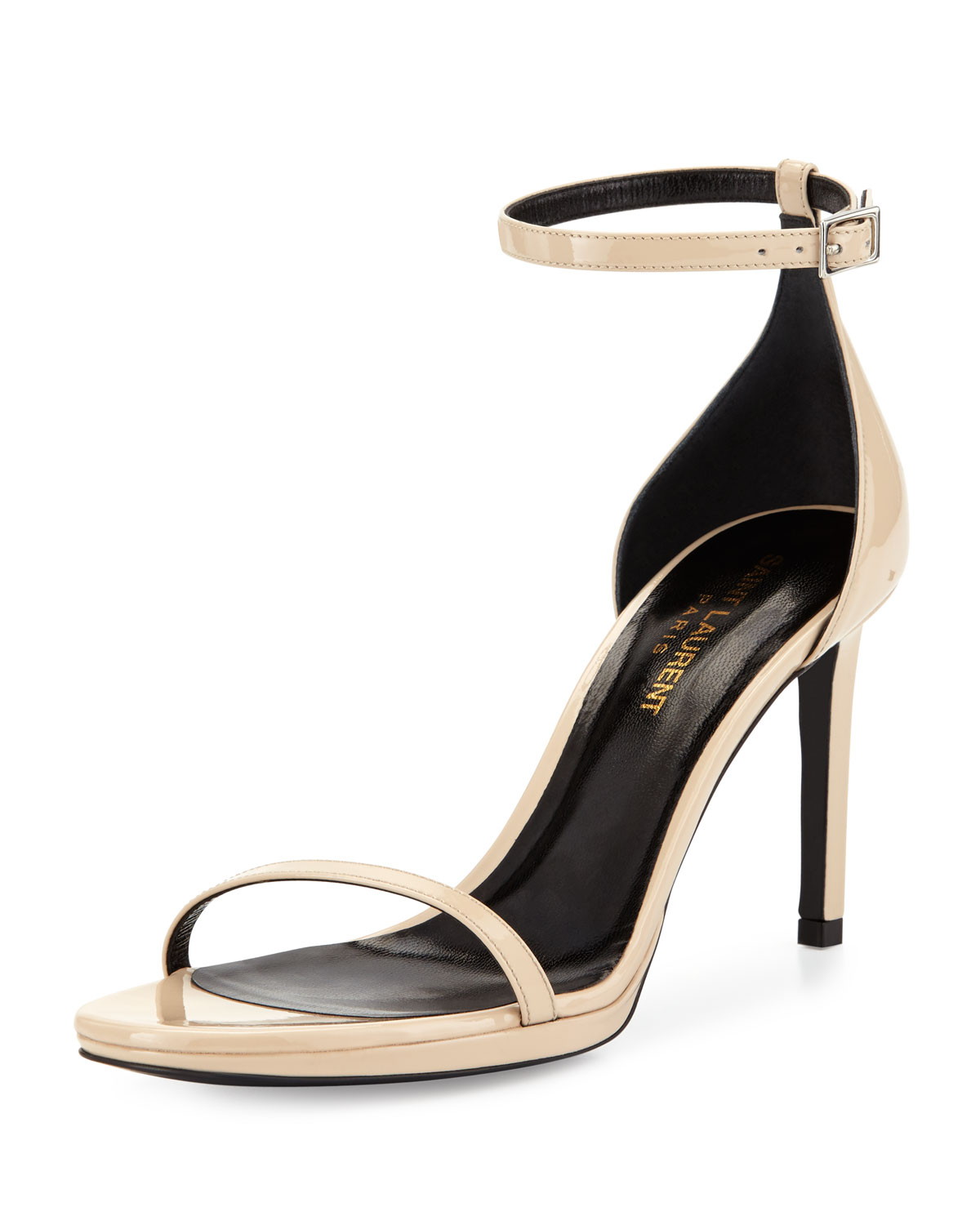 bd681ce3570 Lyst - Saint Laurent Jane Calfskin Sandal Nude in Natural