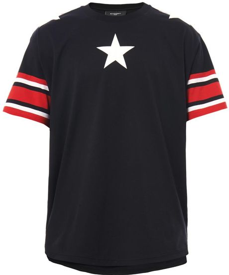 Givenchy columbiafit star print tshirt in black for men lyst for Givenchy star t shirt