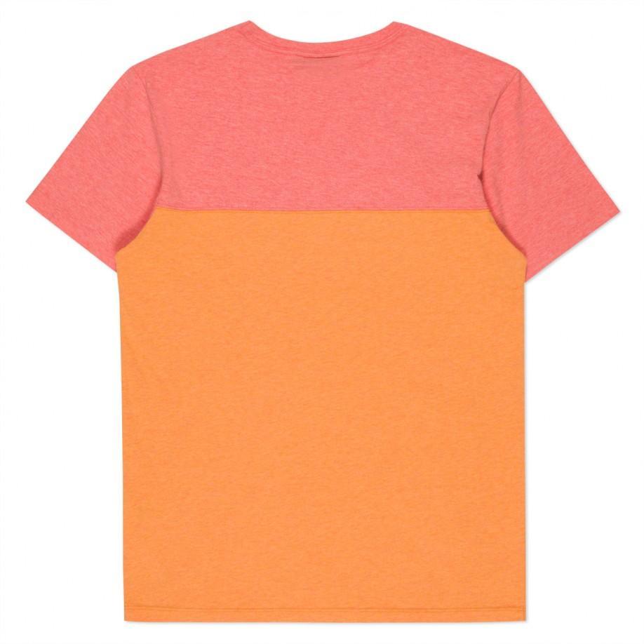 Paul Smith Men 39 S Orange Organic Cotton Pieced T Shirt In