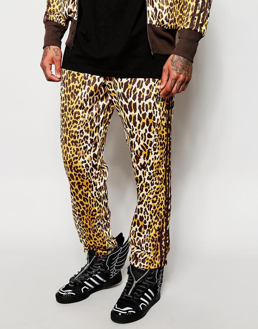 dcf0c20248f Lyst - adidas Originals X Jeremy Scott Leopard Track Pants in Brown ...
