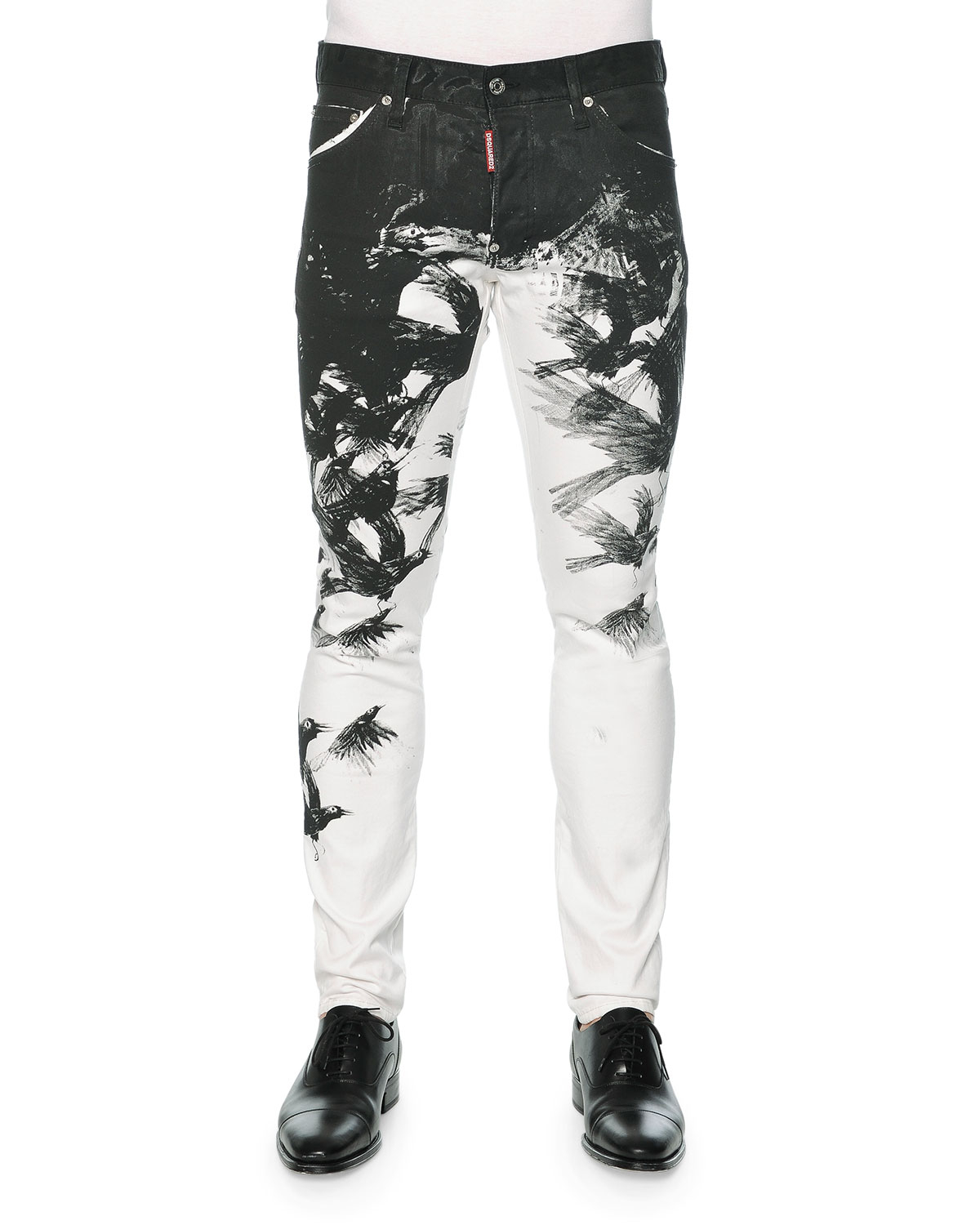 Lyst - DSquared² Cool Guy Crow-print Skinny Jeans in Gray for Men c47c92a4b