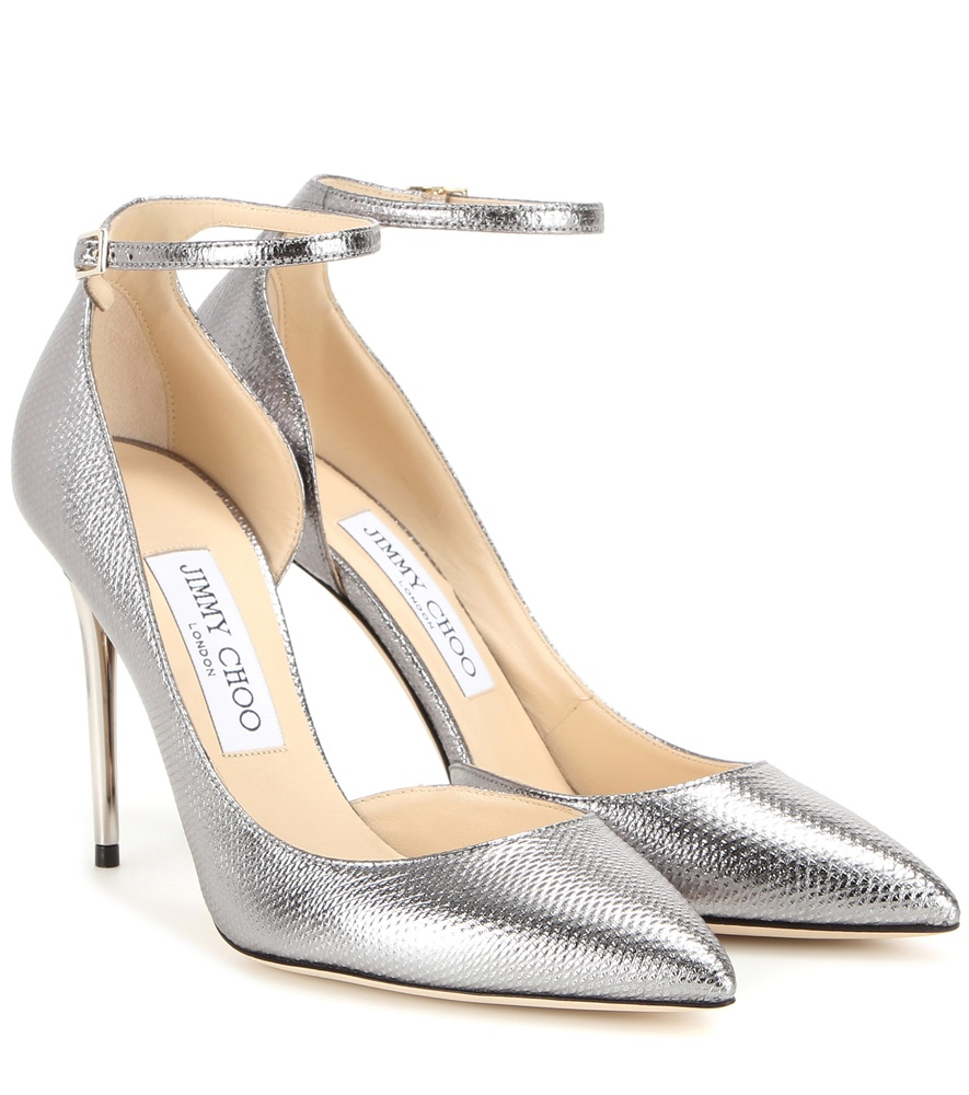 fbf08e83e42b ... official store lyst jimmy choo lucy 100 metallic snakeskin pumps in  metallic 29888 c05af