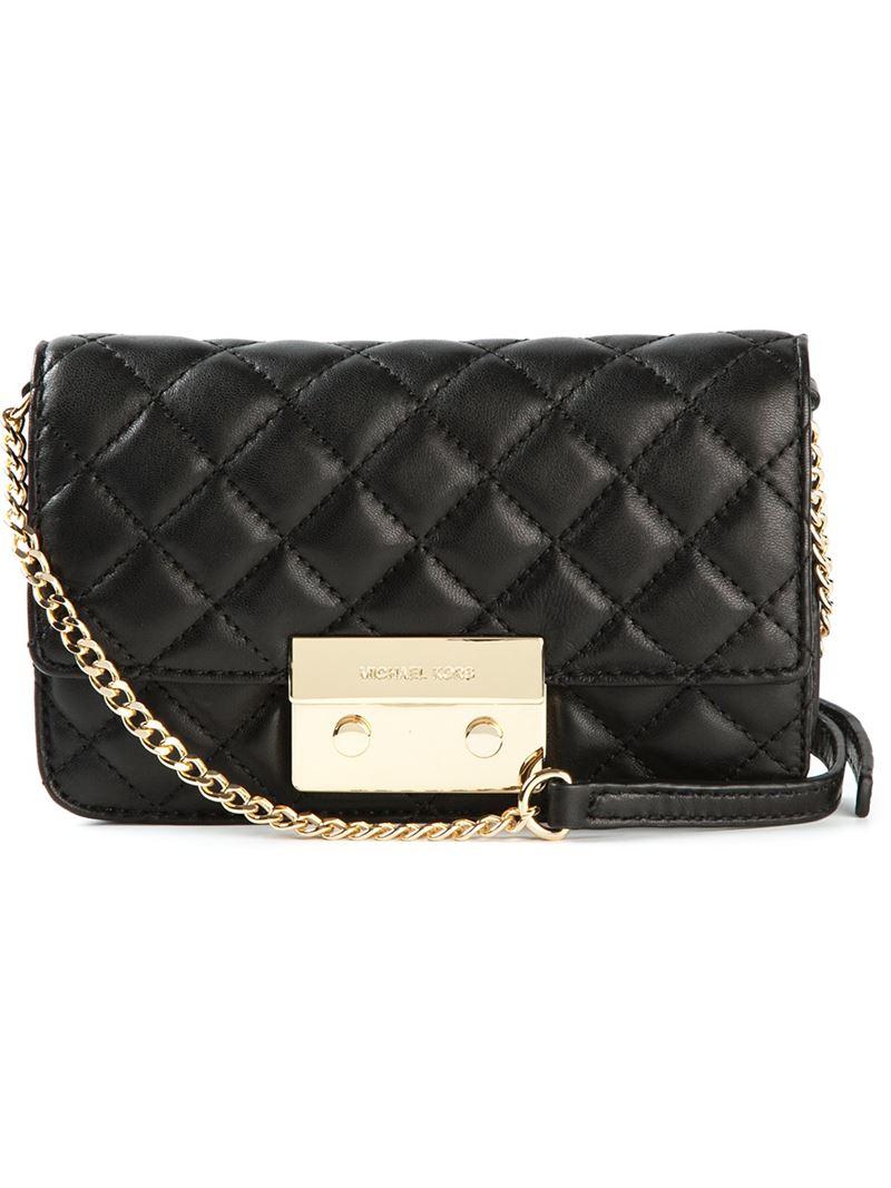 MICHAEL Michael Kors 'Sloan' Quilted Crossbody Bag in Black