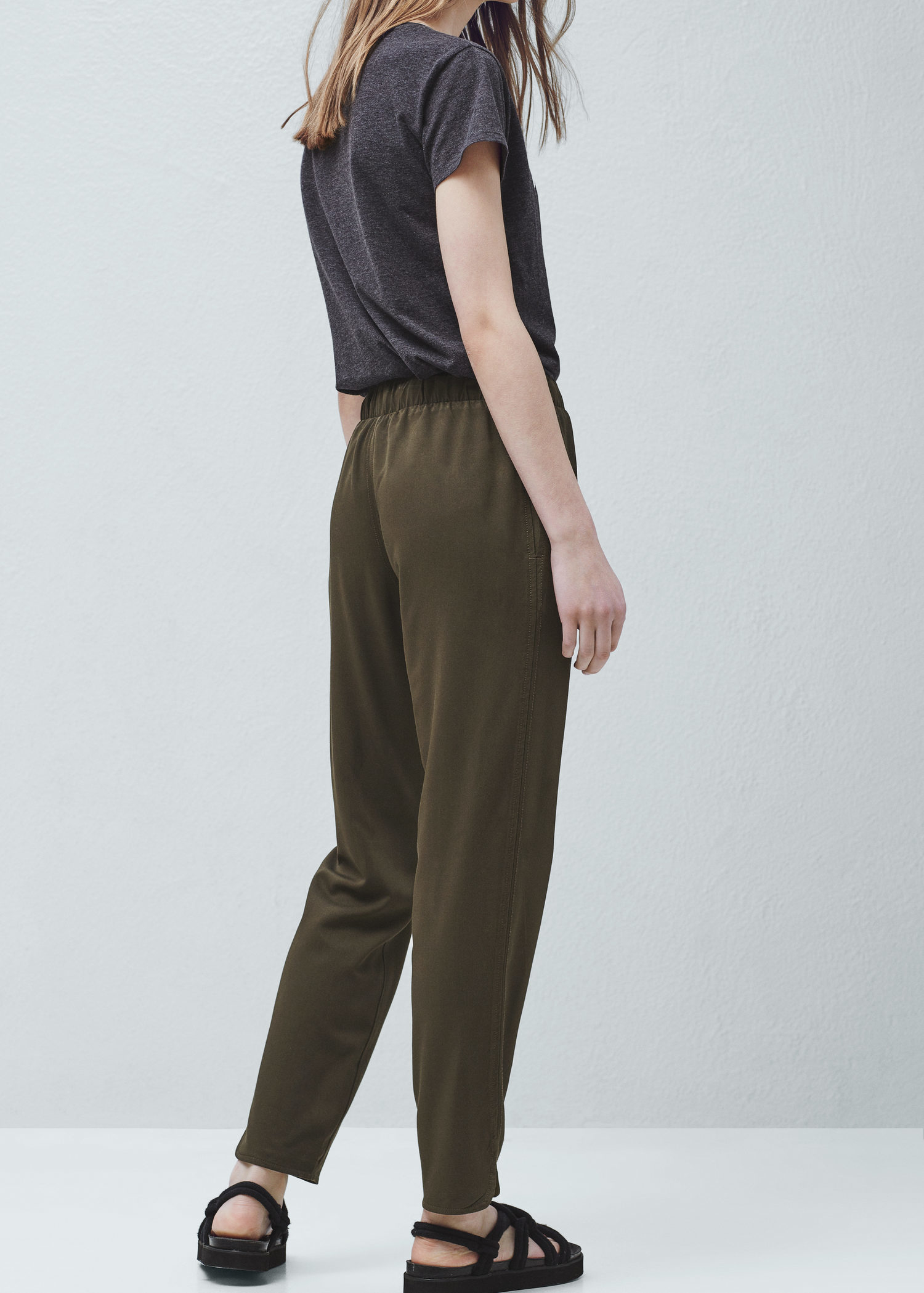 Model  Multipockets Women39s Baggy Cargo Pants Khaki Cargo Pants For Women
