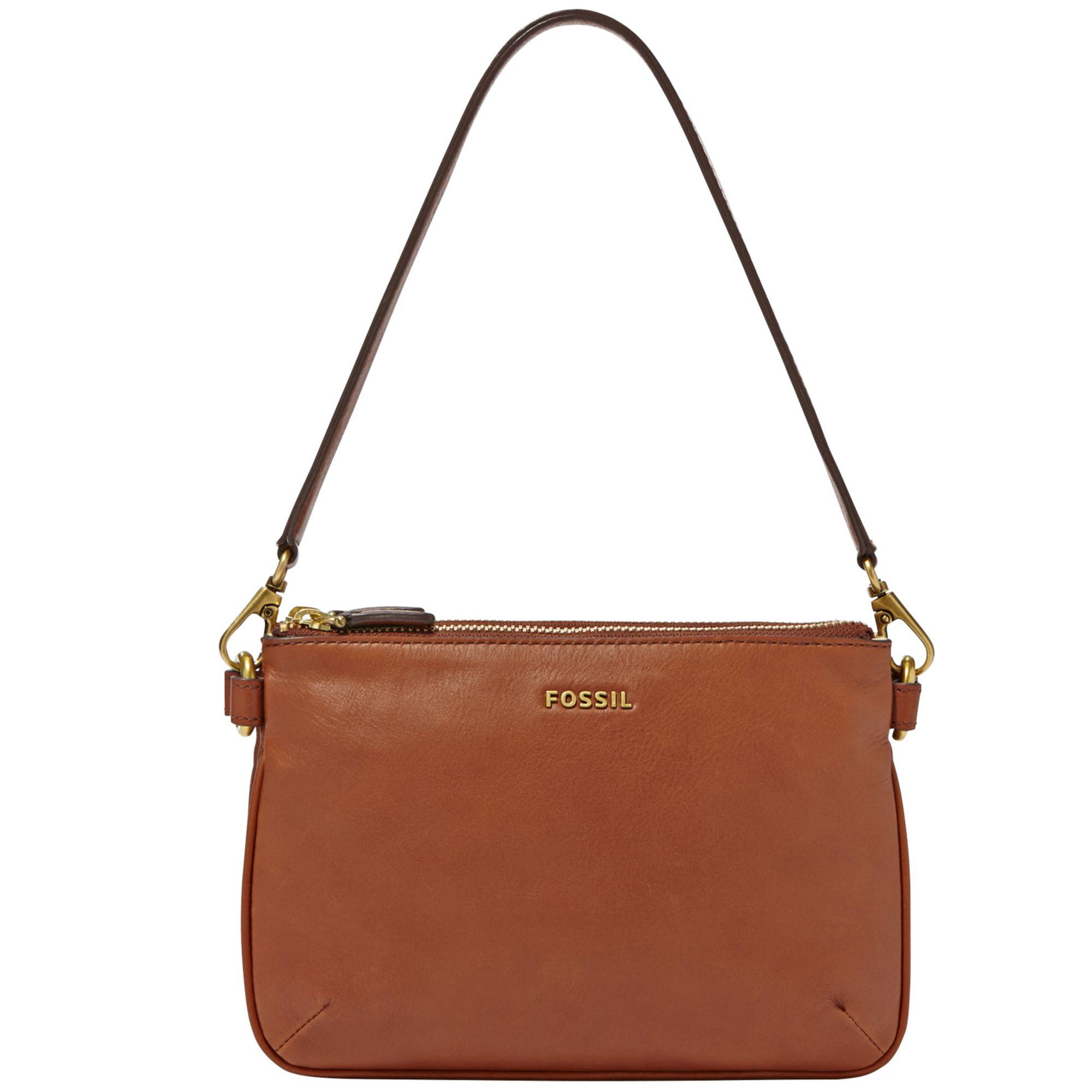 Fossil Memoir Leather Pocketbook Top Zip Shoulder Bag in Brown | Lyst