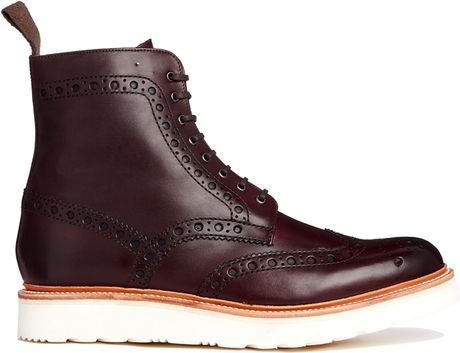 Grenson Brogues Boots Grenson Fred Brogue Boots