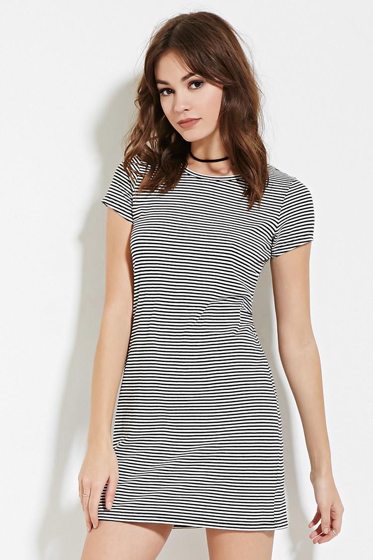 93c5451238eaa2 Striped T Shirt Dress Black And White « Alzheimer's Network of Oregon