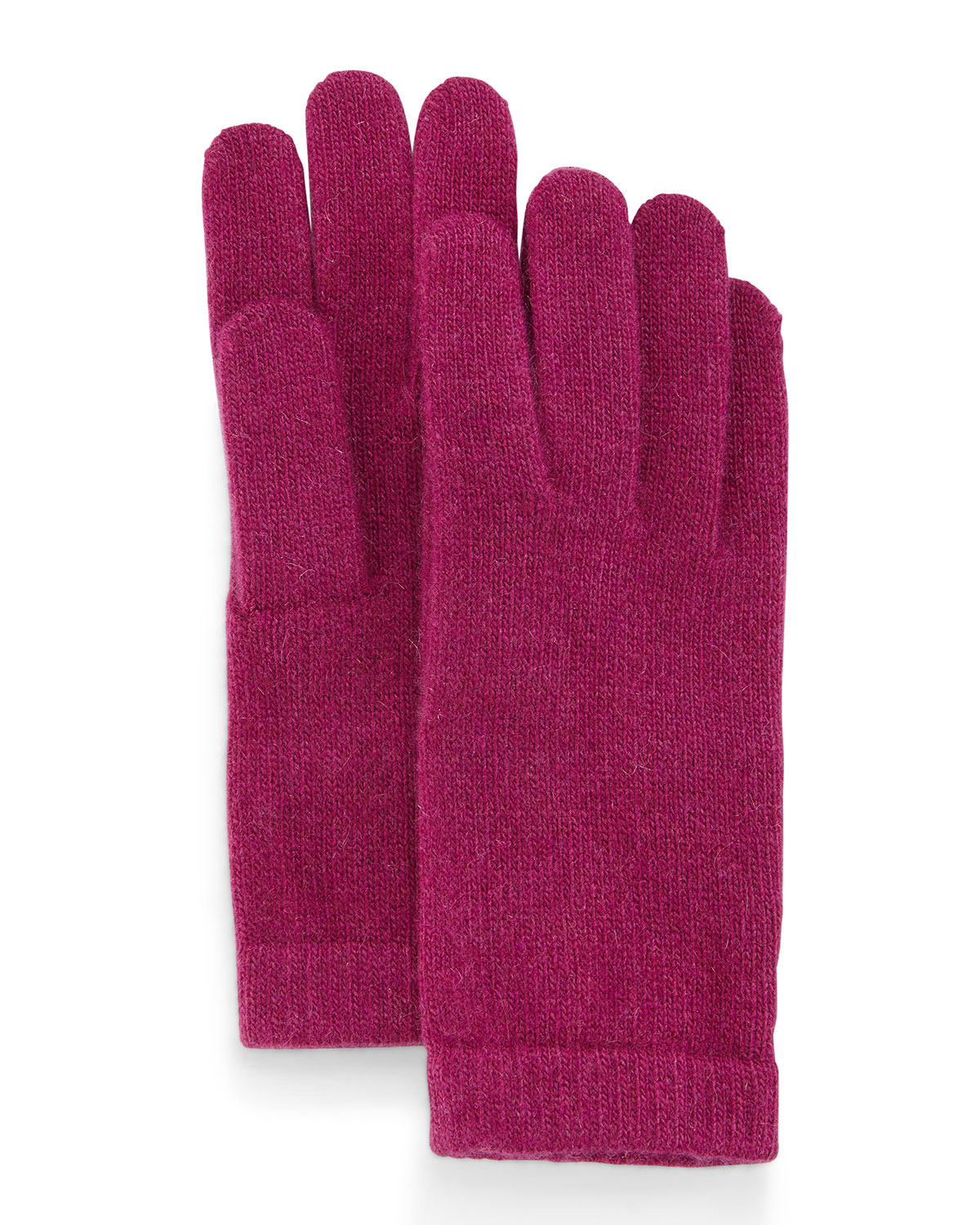 Knitting Pattern Cashmere Gloves : Portolano Cashmere Basic Knit Gloves in Red Lyst