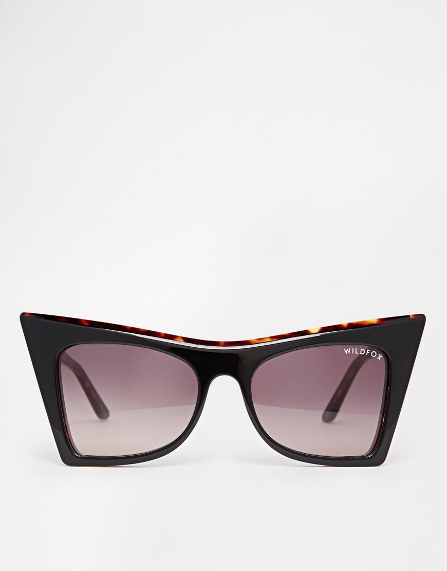 5c5bc2968ae85 Lyst - Wildfox Ivy Cat Eye Sunglasses in Black