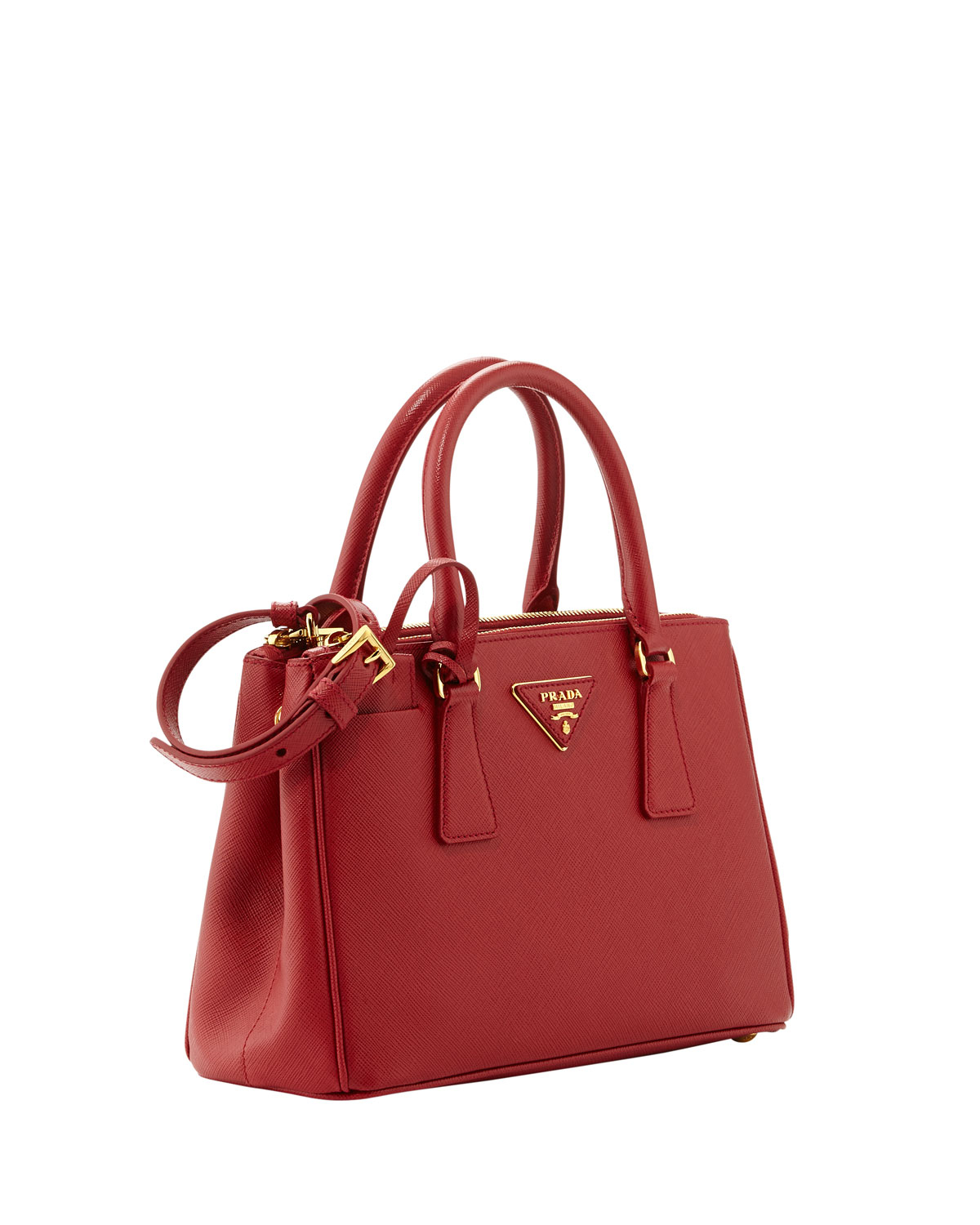 d23a8dd66708 Prada Saffiano Baby Executive Tote Bag With Strap in Red - Lyst
