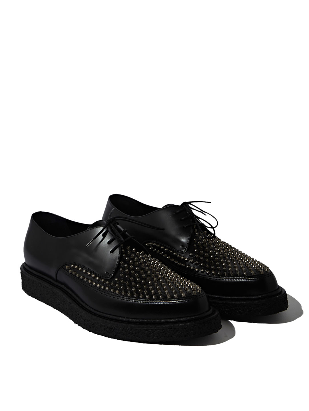 Black Studded Sneakers Shoes Mens