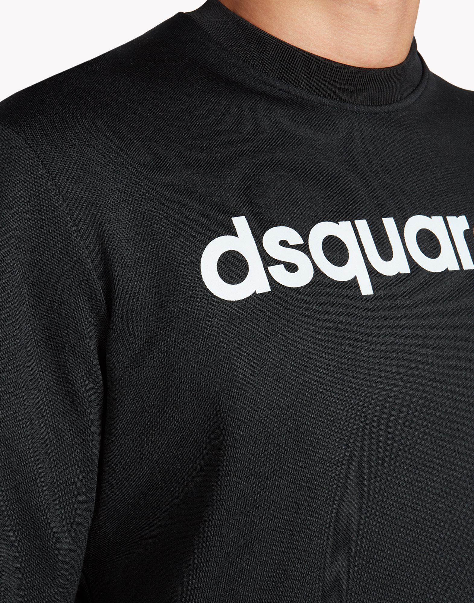Dsquared 178 Vintage Jogging Fit Sweatshirt In Black For Men